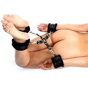 Hogtie-set i PU lder